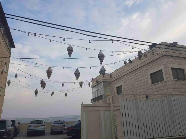 Decorations in Mashad on the Israel National Trail