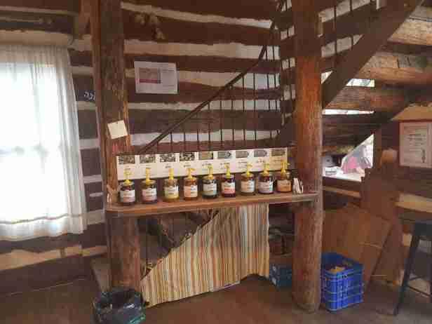 Honey tasting at the Yiftah'el Winery visitor center