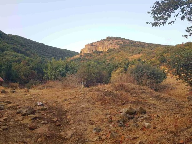 At the foothills of Mount Carmel on the Israel National Trail