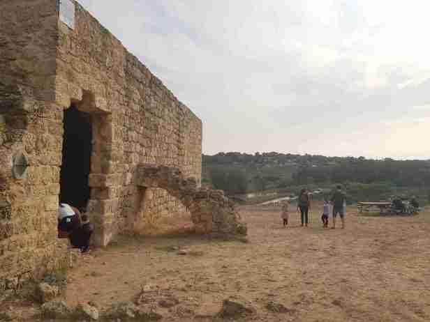 Samara Ruins on the Israel National Trail, above Alexander Creek