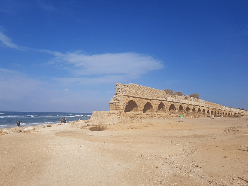 The Aqueduct Beach on the Israel National Trail
