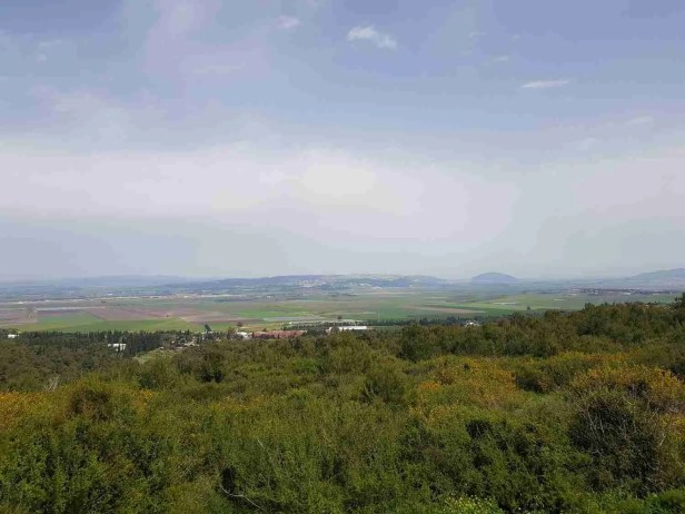 The view from the Mishmar HaEmek Kibbutzim Memorial