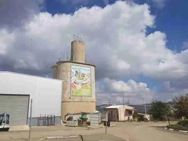 The silo tower in Kibbutz Tsova