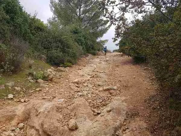 Climbing on the Israel National Trail to Beit Meir