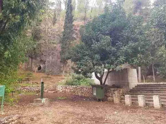 Near the Bnei Brit Cave in the Forest of the Martyrs