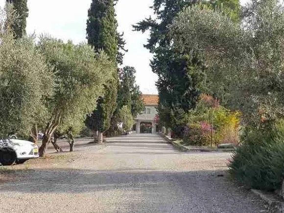 The Trappist Monastery from a distance on the Israel National Trail