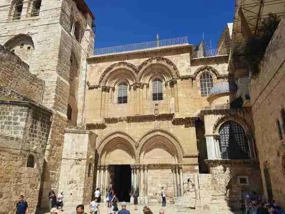The Church of the Holy Sepulchre in the Old City of Jerusalem