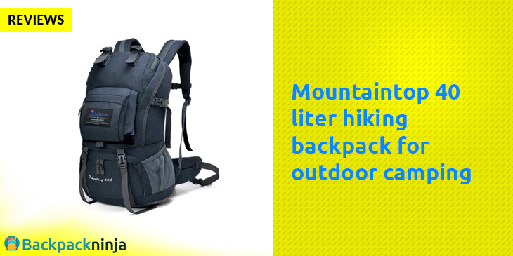 Mountaintop 40 liter hiking backpack for outdoor camping Review