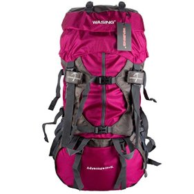 WASING 55L Internal Frame Backpack Hiking Backpacking