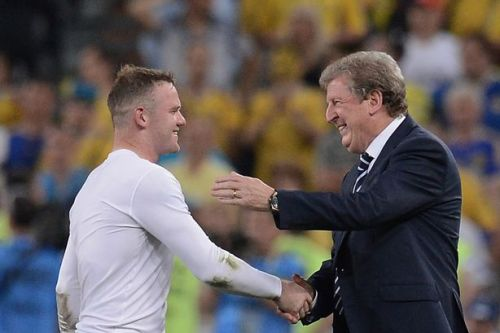 Wayne Rooney and Roy Hodgson