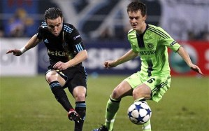 """""""The best player on the pitch"""": Ancelotti's verdict of McEachran's showing in an otherwise sterile Chelsea performance against Marseille on 8 December, 2010"""