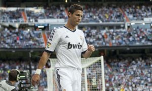 Ronaldo's 'celebration' after the second of his two goals in the 3-0 victory over Granada on 2 September