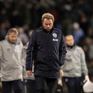 Harry Redknapp looking disconsolate after QPR's 3-2 defeat by Fulham