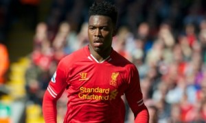 Liverpool's Sturridge does his celebration dance with a fan