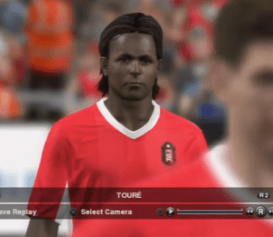 This is supposed to be Kolo Toure on Pro Evo 2014