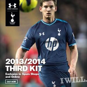 Tottenham unveil third choice kit