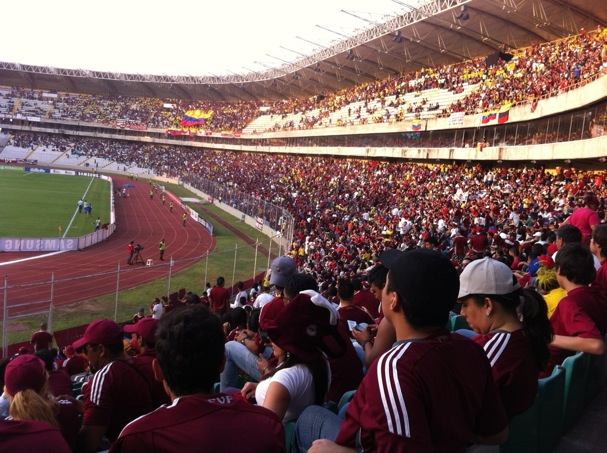 My view from inside Estadio Cachamay in Puerto Ordaz.
