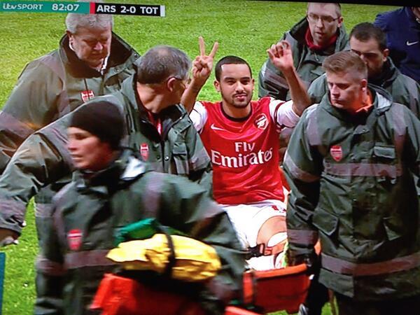 Theo Walcott gesture