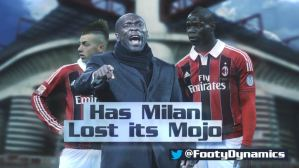 Football Dynamics - Has Milan lost its mojo?