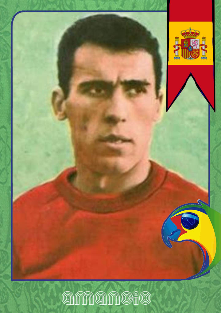 World Cup Legends Spain And Amancio Back Page Football