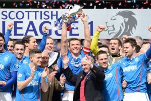 The real drama is below the Scottish Premier League this season