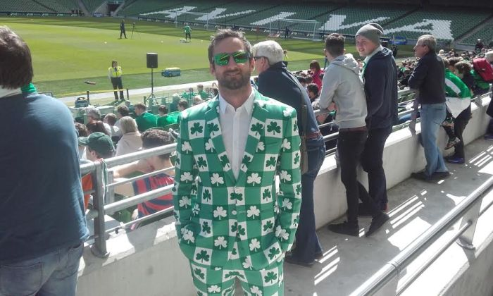 Ian from Waterford dressed for the occasion