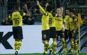 Borussia Dortmund's black and yellow train on the right track