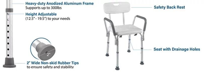 Feature of Vaunn Bathtub Shower Lift Chair