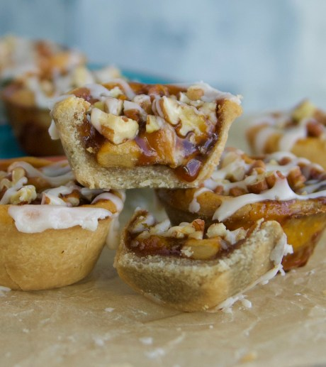 paleo caramel apple tart