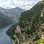 View over the Piva river, Montenegro