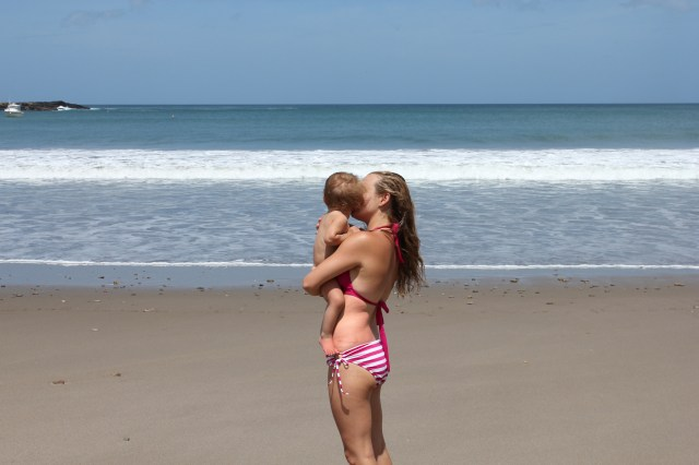 Sage and Mommy on beach