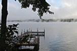 Steam Rising Off Long Lake