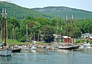Schooners At Anchor