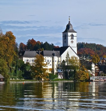 St. Wolfgang's Pilgram Church Is a Prominent Landmark On The Lake