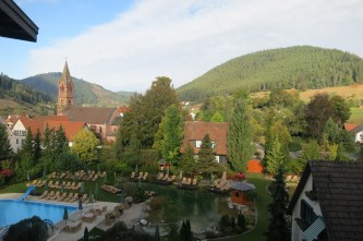 Grounds Of The Hotel Bareiss In The Black Forest