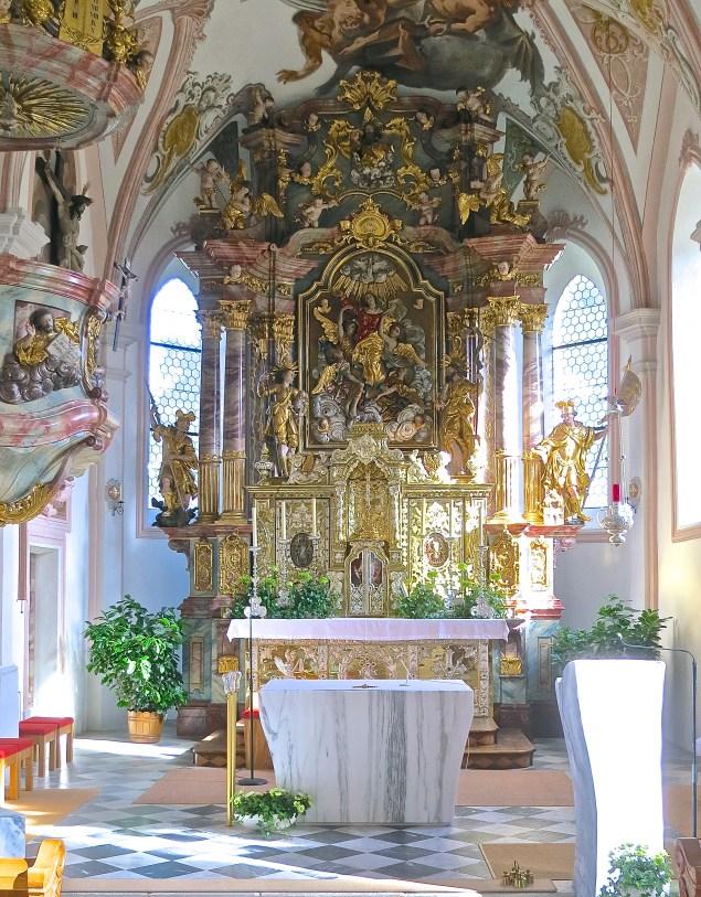 Beautiful Alter Of Serfaus Parish Church
