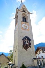 Bell Tower Of The Serfaus Parish Church