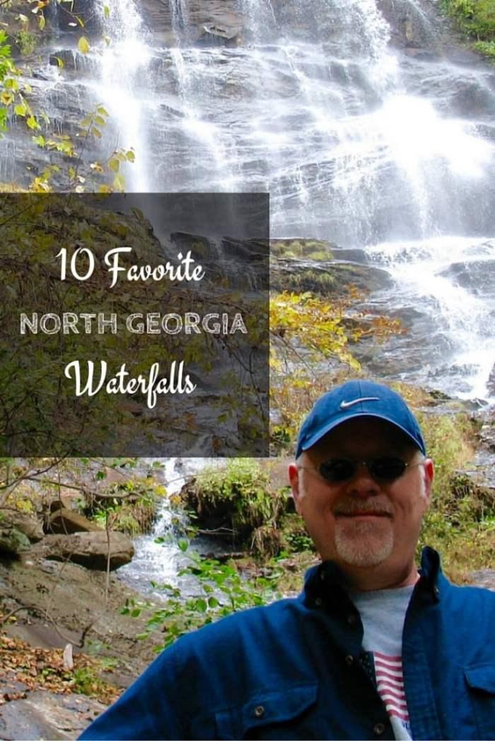 Ten incredibly beautiful North Georgia waterfalls you can easily schedule into your road trip or vacation. #travel #roadtrip #Georgia #waterfalls