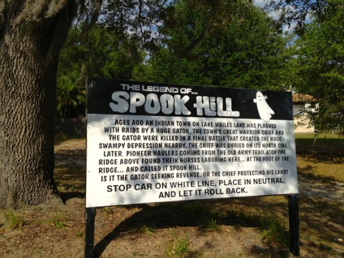 Spook Hill Sign