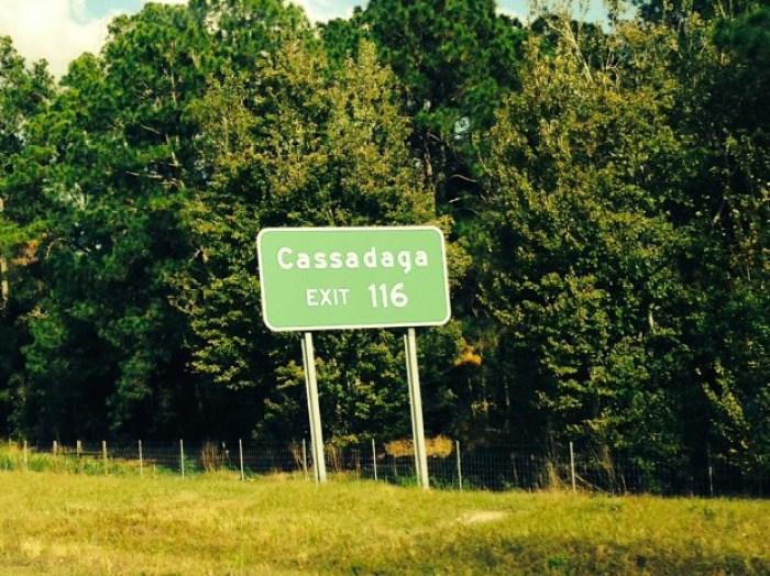 Cassadaga Exit Sign