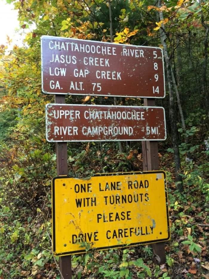 Signs Near Horse Trough Falls