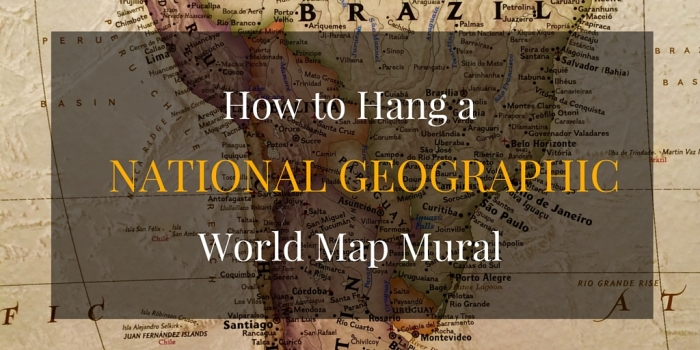 How to hang a national geographic world map mural detailed directions for hanging a national geographic world map mural including materials expense preparation mounting and handling tricky roadblocks gumiabroncs Images
