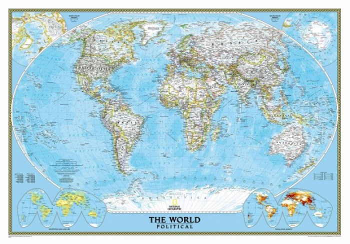 How to hang a national geographic world map mural worldpoliticalstandardblueoceanlg gumiabroncs Images