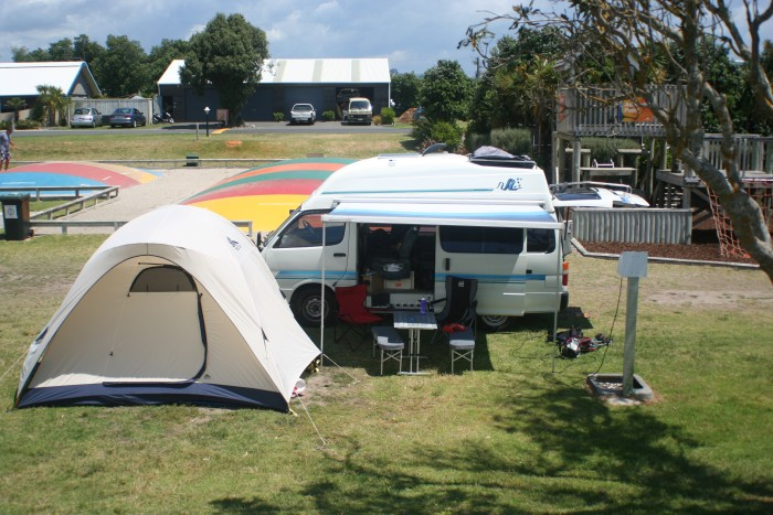 Camping in Mt. Maunganui, North Island