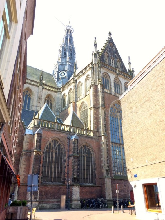 Outside St. Bavo's Church Haarlem, Netherlands