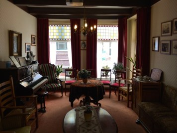 The parlor of the Corrie ten Boom House Museum in Haarlem, Netherlands.