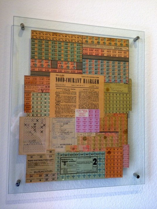 Ration cards in the Corrie ten Boom House Museum.