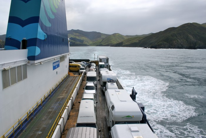 Ferry crossing from the South Island to the North Island