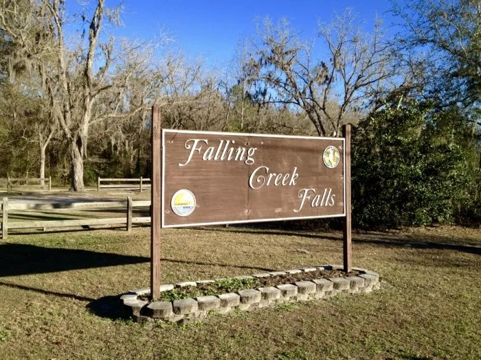 Falling Creek Falls Sign Florida