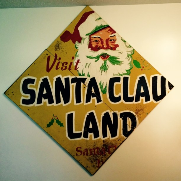 Vintage Santa Claus Land Sign